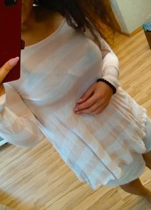 Новая натуральная брендовая туника платье, 12-14