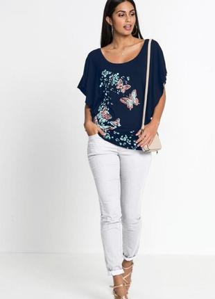 Шикарная футболка - бабочка из вискозы