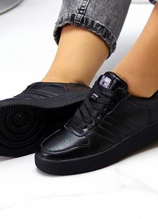 Повседневные кожаные женские молодежные кроссовки натуральная кожа