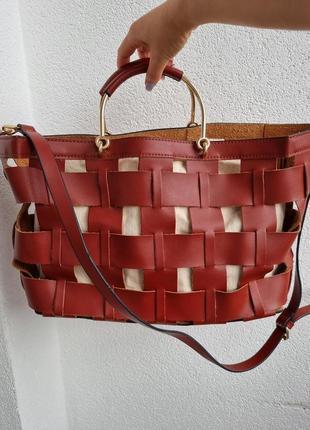 Zara женская стильная сумка