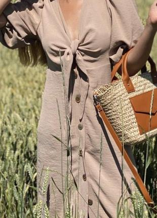 Бежеве плаття креп-лен