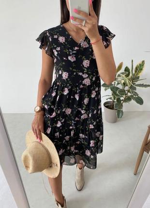 🏷️ женское шифоновое платье на подкладке