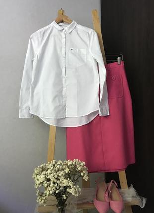 Базова білосніжна котонова сорочка