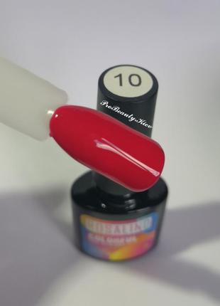 №10 гель лак 10 мл rosalind алый красный эмаль probeauty