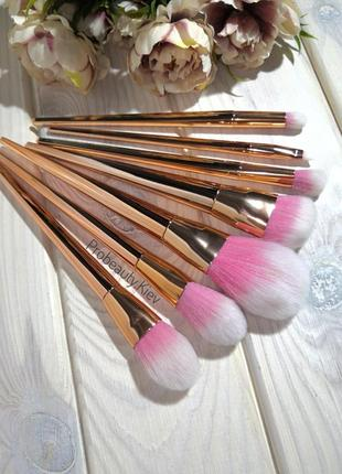 7 шт набор кистей для макияжа gold/rose probeauty