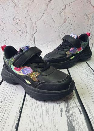 Кроссовки для девочки черные в наличии 31, 32, 33, 34 р.