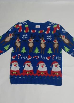 Новогодний свитер, рождественский свитер на 2-3 года