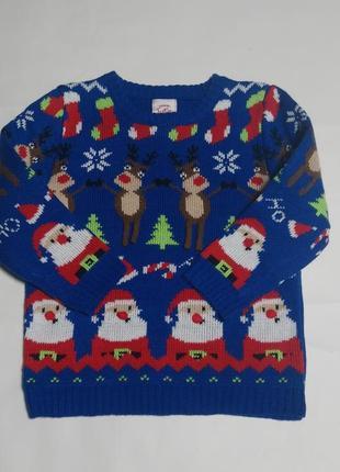 Новогодний свитер, рождественский свитер на 2-3 года2 фото