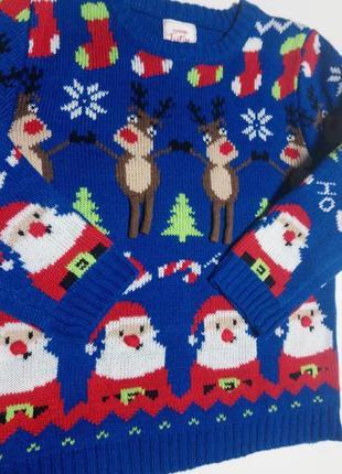 Новогодний свитер, рождественский свитер на 2-3 года3 фото