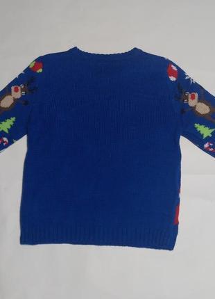 Новогодний свитер, рождественский свитер на 2-3 года4 фото