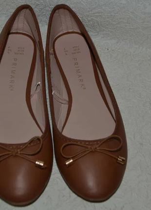 Новые балетки туфли primark 24 cм 37-38 размер англия