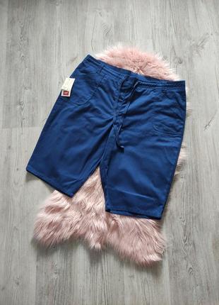 Хлопковые джинсовые шорты на резинке uk 22