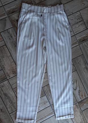 Летние брюки штаны в полоску на высокой посадке