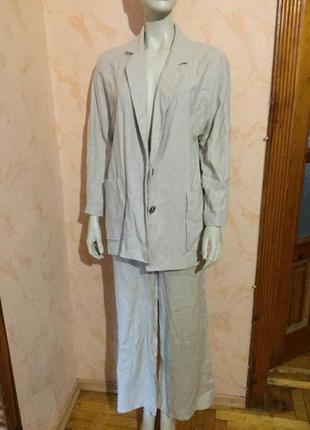 Пиджак длинный льняной вискоза