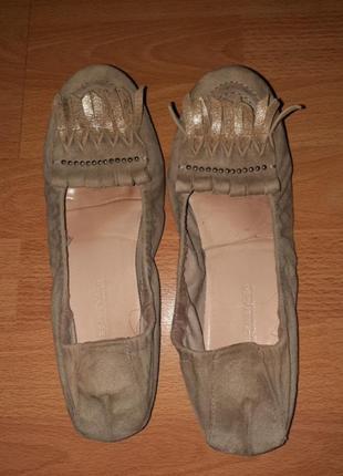 Балетки туфли мокасины текстиль внутри натуральная кожа