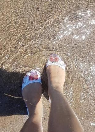Мыльницы силиконовые балетки женские аквашузы пляжная обувь5 фото