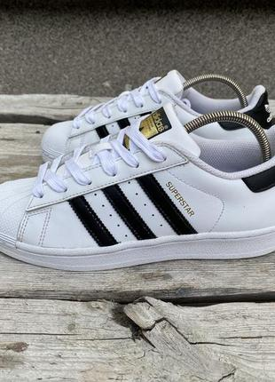 Оригинал кожаные adidas originals superstar c77154 кроссовки