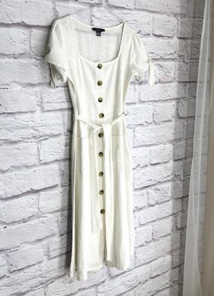 Белое платье с хлопка primark