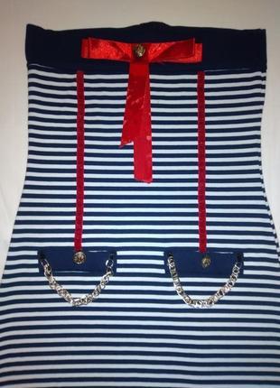 Нарядное платье в морском стиле. размер 40-42-44-46.