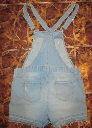 Голубой летний стильный комбинезон,джинс,40\42р