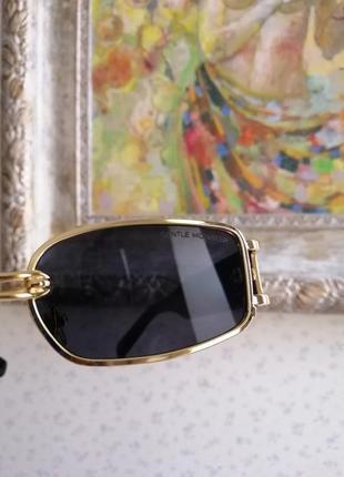 Эксклюзивные брендовые солнцезащитные женские очки с пирсингом, кольцом 2021 gentle monster4 фото