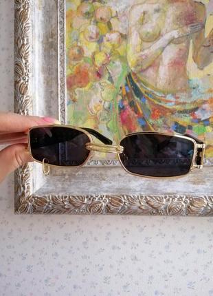 Эксклюзивные брендовые солнцезащитные женские очки с пирсингом, кольцом 2021 gentle monster5 фото
