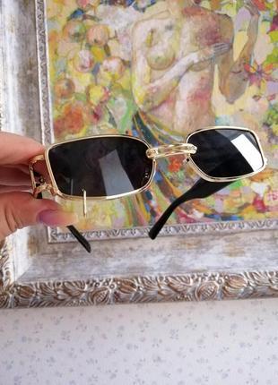 Эксклюзивные брендовые солнцезащитные женские очки с пирсингом, кольцом 2021 gentle monster2 фото