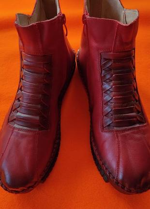 Ботинки 💯% кожа 41 размер,полусапожки,демисезонные ботинки!!!