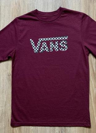 Подростковая хлопковая футболка с принтом vans
