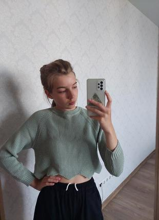 Кроп-топ, кроп-свитер, укороченый свитер, стильный свитер, стильный свитер,