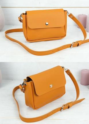 Женская сумка кросс-боди из натуральной кожи гранд цвета янтарь