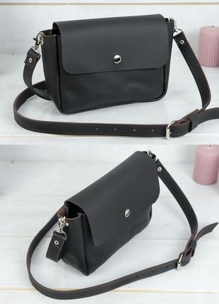 Женская сумка кросс-боди из натуральной кожи гранд шоколадная