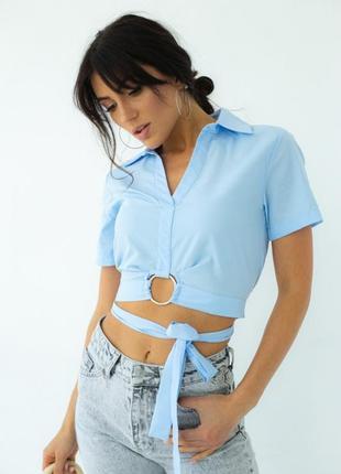 Блузка с завязками вокруг талии