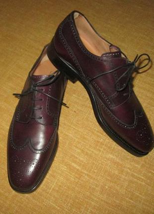 Silvano sassetti кожаные туфли ручной работы италия броги