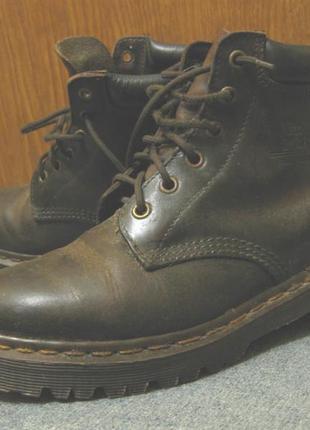 Ботинки кожаные dr. martens england р37,5 стелька24см  мартинсы унисекс, натуральная кожа