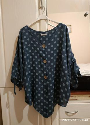 Блузка - пиджак лен.