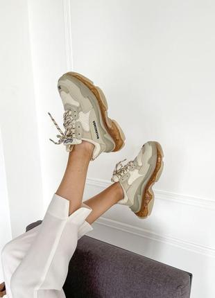Женские массивные кроссовки замша 36-40