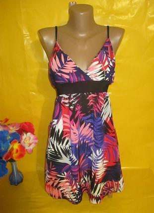 Очень красивое женское платье грудь 43-50 см new look (нью лук) рр 16 !!!!!!!!!