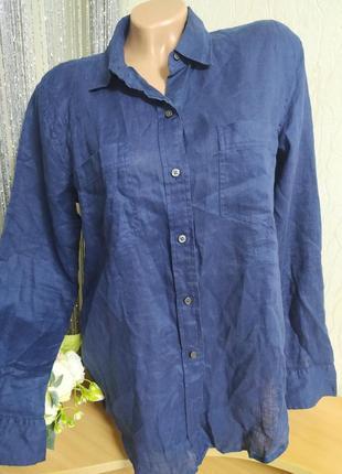 Натуральный 100% лен, casual,,рубашка gap,размерс,м