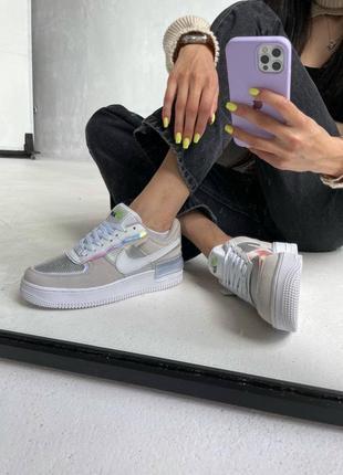 Nike air force 1 shadow «pure platinum»