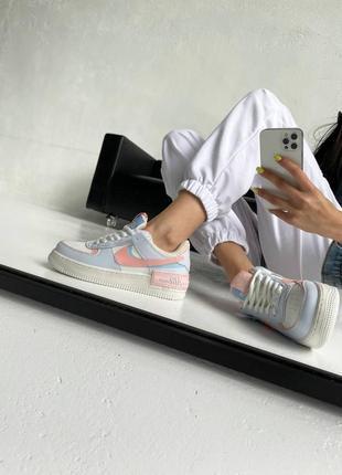 """Nike air force shadow """"sail crimson tint""""10 фото"""