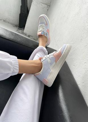 """Nike air force shadow """"sail crimson tint""""7 фото"""