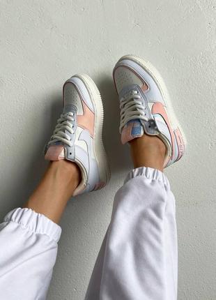 """Nike air force shadow """"sail crimson tint""""5 фото"""