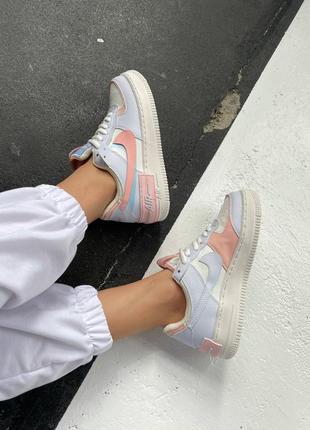 """Nike air force shadow """"sail crimson tint""""4 фото"""