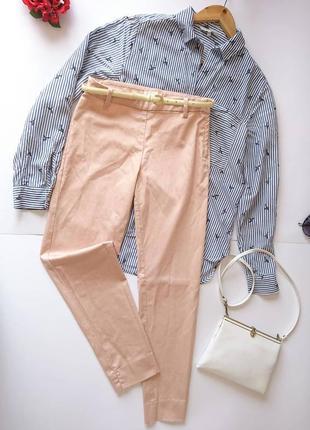 Вкорочені пудрові брючки/брюки/штани на високій посадці h&m, на р. xs 💔