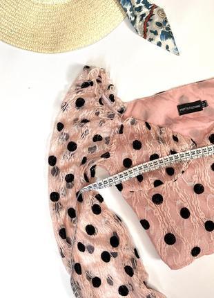 Шикарный топ в горошек , блуза, кофта2 фото