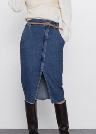 Юбка миди джинсовая