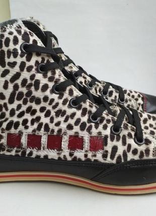 Кожаные кеды ботинки kunzli р.5 (38) швейцария