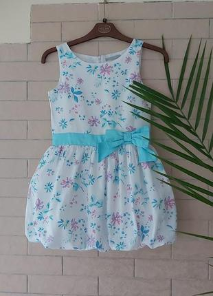 Cool - club красиве плаття для дівчинки р.134- 140 см., біле платтячко,детские платья,сукня,платьє в цветочек., сарафан.