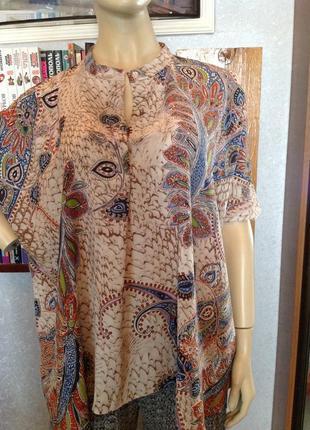 Отличная блуза оверсайз бренда studio, р. 52-58